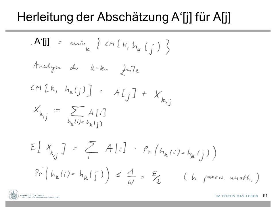 Herleitung der Abschätzung A'[j] für A[j]